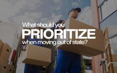 What should you prioritize when moving out of state?