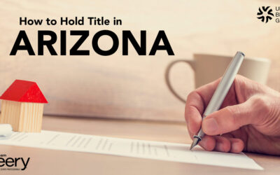 How to Hold Title in Arizona